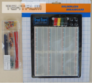 Tektrum Solderless Experiment Plug in Breadboard Kit With Pre formed Solid Jumpe