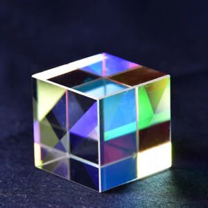 K9 X cube Edge Glass Square Dispersing Step Lens Beam Splitter Prism 15x15x15mm
