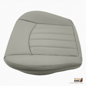2007 2008 Jaguar X Type Driver Bottom Synthetic Leather Vinyl Seat Cover Gray