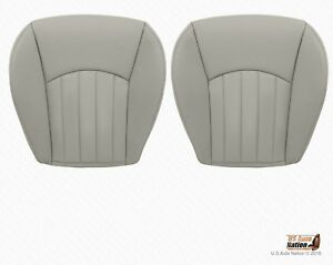 2004 To 2008 Jaguar X Type Driver And Passenger Bottom Vinyl Seat Cover Gray