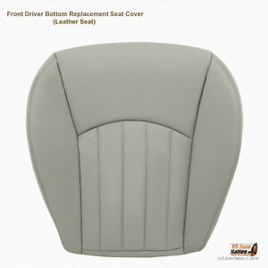 2002 2003 Jaguar X Type Front Driver Bottom Replacement Leather Seat Cover Gray