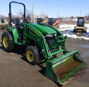 2013 John Deere 3320 Ehydro Hydrostatic Mfwd Tractor 300cx Loader 3pt
