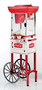 Snow Cone Cart Coca cola Vintage Shaved Ice Maker Stand Machine Collection Style