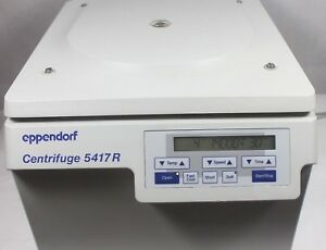 Eppendorf 5417r Refrigerated Centrifuge W Rotor F45 30 11 Lid Working