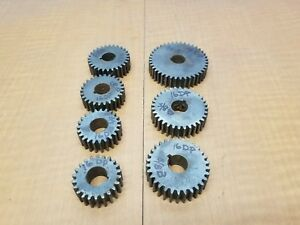 Antquie Lathe Lathe Change Gears 16dp 625id 125 Key 625wd Price Is For 1 Gear