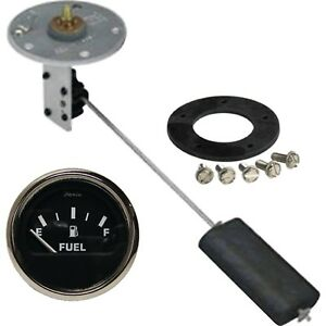 Electric Universal Fuel Tank Sending Unit Complete Kit With Dash Mounted Gauge