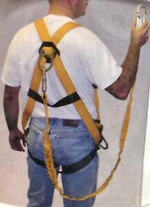 Miller Titan Fall Protection Kit Full Body Harness 6ft Shock Absorb Lanyard