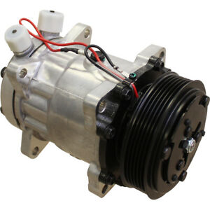 Compressor Sanden Sd7h15 Style For Ford new Holland 5640 6640 7740 Tractors