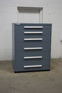 Used Vidmar 6 Drawer Cabinet Industrial Tool Storage 45 Wide 1270
