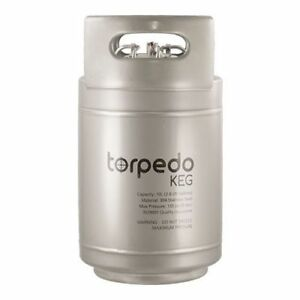 2 5 Gallon Stainless Steel Torpedo Ball Lock Keg