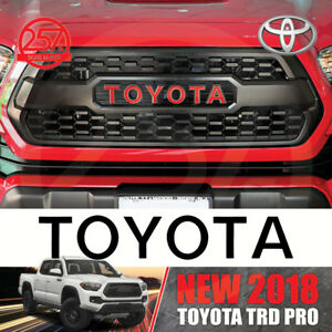 New Toyota Trd Pro Grille Logo Decal 2016 2017 2018 Tacoma Grill Sticker Letters