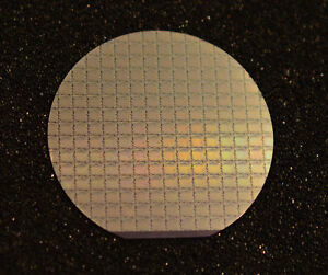 2 Silicon Wafer Vintage 1969 Ami Shift Register Memory