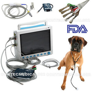 Fda Veterinary Vital Signs Monitor Patient Monitor Ecg nibp spo2 temp resp pr us