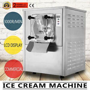 Commercial Frozen Hard Ice Cream Machine Maker 20l h 5 28gal h Ice Cream Rolling