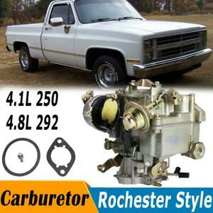 Upgraded Rochester Style 1 Barrel Carburetor For Chevy Gmc V6 Eingine 250