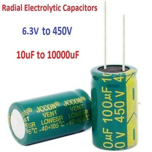 High Frequency Low Esr Radial Electrolytic Capacitor Various Value And Voltage