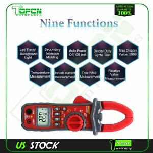 Ua2008d Ac Dc Voltage Lcd Digital Clamp Multimeter Electronic Buzzer Tester