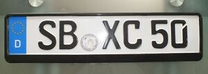 European German License Plate Holder Tag Holder Theft Protection New