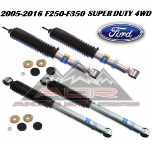Bilstein Front Rear 5100 Series Shocks For 2005 2016 Ford F 250 F 350 W 4 Lift