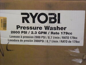 Ryobi 2800 psi 2 3 gpm 179 Cc Gas Pressure Washer With Idle Down