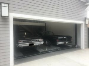 Usa Made Storage Parking Double Wide Car Lift Sgt 9000xlt 1981 9 000lbs Cap