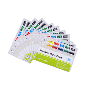 Dental Endodontic Root Canal 0 02 15 40 Absorbent Paper Points 200pcs pack