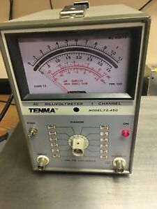 Tenma Channel Millivoltmeter Decibel Meter Model 72 450