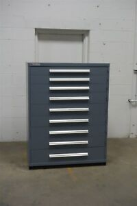 Used Vidmar 9 Drawer Cabinet Industrial Tool Storage 45 Wide 1286 Lyon