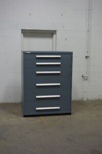Used Vidmar 6 Drawer Cabinet Industrial Tool Part Storage 45 Wide 1285