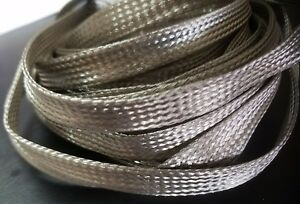 3 8 I d Braided Stainless Steel Tubular Sleeve Wire Cover For Harley