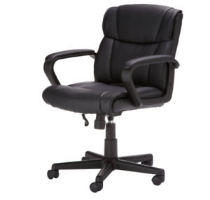 Computer Desk Office Chair Black Style Executive Mid Back Task Padded Seat