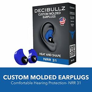 Custom Molded Earplugs Hearing Shooting Noise Protection Munite Fit Ear Plug Blu