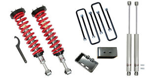 Freedom Offroad 1 4 Lift Front Coilovers 3 Rear Lift W Shocks For 04 13 F150