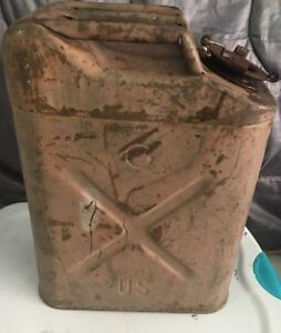 1968 Usmc Military 5 Gallon Jerry Gas Fuel Can Original No Leaks W Cap Us