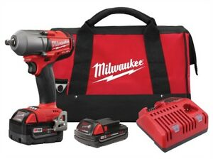 Milwaukee 2861 22 M18 Fuel 1 2 Dr Mid Torque Impact Wrench Kit W 2 Batteries