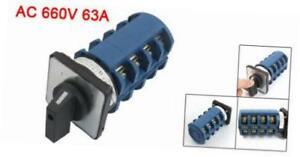 Ac 660v 63a 3 Positions 4no 4no Rotary Selector Cam Changeover Switch