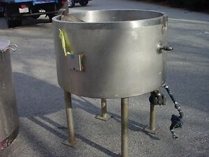 80 Gallon Stainless Steel Jacketed Tank Kettle