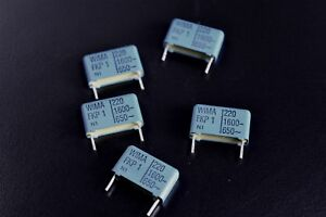 5 Wima Fkp 1 220 Pf Mmfd 1600vdc Audio Pulse Polypropylene Pp Foil Capacitors