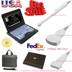 Ultrasound Scanner Laptop Machine 3 Probes Convex Linear Transvaginal us Seller