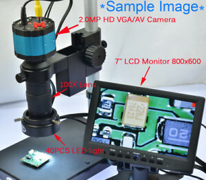 Hd 2in1 2 0mp Industry Digital Microscope Camera With Table Stand 7 Monitor