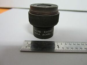 Microscope Part Objective Vickers Aa5620 Achro Optics As Is Bin m7 r 09
