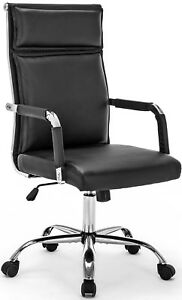 Office Chair Modern Conference Chair Executive Swivel Pu Leather Ergonomic Chair