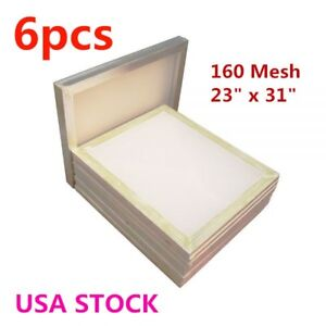 Us Stock 6pcs Aluminum Frame Silk Screen Printing Frame 160 Mesh 23 X 31