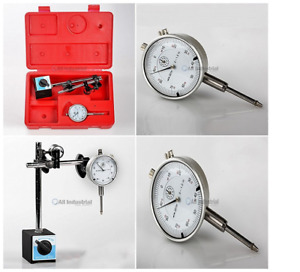 Dial Indicator Gauge Magnetic Base Set Test Precision Starrett With On off Case