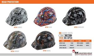 Hard Hat Cap Or Brim Patten Style With 4 Ratchet Suspension one Size hp34 44