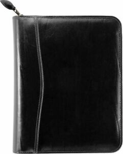 Western Coach Leather Zippered 1 5 Inch Planner Cover Desk Size
