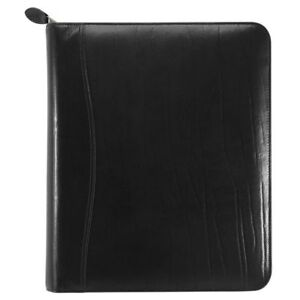 Western Coach Leather Zippered 1 5 Inch Planner Cover Folio Size