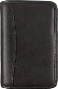 Distressed Leather Zippered 1 Inch Planner Cover With Multi pockets