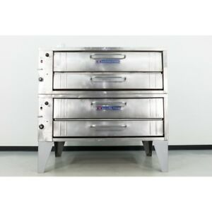 Used Bakers Pride 351 55 Double Deck Gas Deck Oven