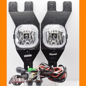 For 2001 2002 2003 2004 Ford Excursion Clear Fog Lights Kit Wiring